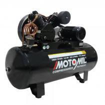Compressor De Ar 20 Pés 200 Litros 175 Lbs Cmav20/200 Trifásica 220/380 - Motomil - MOTOMIL
