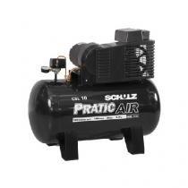 Compressor de Ar 2hp 10 pés 100 Litros Monofásico - PRATIC AIR - Schulz