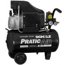 Compressor de Ar baixa pressão 8,2 pés 22 Litros Monofásico - CSA8,2/25 - PRATIC AIR - Schulz