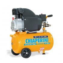 Compressor de ar baixa pressão 8,5 pés 24 litros monofásico - MC 7.6/24 - Chiaperini (110V) - Chiaperini