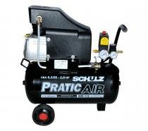 Compressor de Ar CSA 8,2 25l  Pratic Air - SCHULZ -