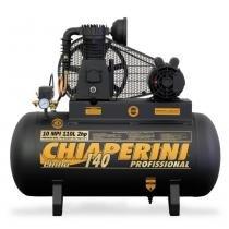 Compressor de ar média pressão 10 pés 110 litros trifásico - 10 MPI 110L - Chiaperini - Chiaperini