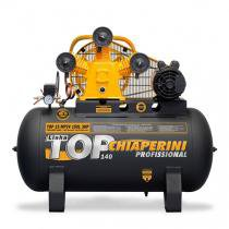 Compressor de Ar Trifásico 3 hp 140 libras 15 pés 150 Litros - TOP15MP3V150LTM - Chiaperini