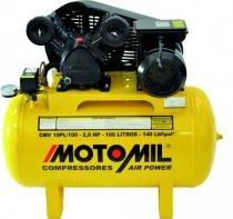 Compressor Motomil CMV10PL 100L 140Psi 8.3BAR 2cv Monofásico - Motomil
