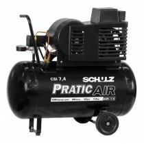 Compressor Schulz CSI7.4PraticAir 50Lts 140Psi/9.7BAR 1.5cv 110/220v Monofásico - Schulz