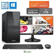 Computador 3green Select Intel Core I3 7100 8GB 1TB Windows 10 Monitor 25 ultrawide 25UM58-P FullHD - 3green technology
