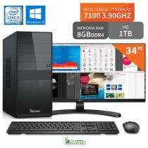 Computador 3green Select Intel Core I3 7100 8GB 1TB Windows 10 Monitor 34 ultrawide 34UM68 FullHD - 3green technology