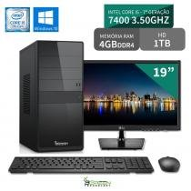 "Computador 3green Select Intel Core I5 7400 4GB 1TB Windows 10 Monitor 19"" LG 20M37A - 3green technology"