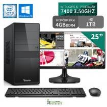Computador 3green Select Intel Core I5 7400 4GB 1TB Windows 10 Monitor 25 ultrawide 25UM58-P FullHD - 3green technology