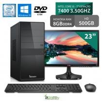 "Computador 3green Select Intel Core I5 7400 8GB 500GB Dvd Windows 10 Monitor 23"" LG 23MP55 HQ - 3green technology"