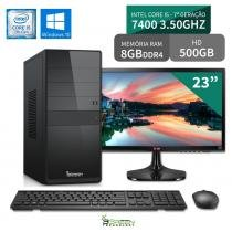 "Computador 3green Select Intel Core I5 7400 8GB 500GB Windows 10 Monitor 23"" LG 23MP55 HQ - 3green technology"