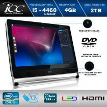 Computador All in One 21. 5 Icc Vision Av2-4543 Intel I5-4460 3,20ghz 4gb Hd 2tb Wifi Webcam Dvdrw -