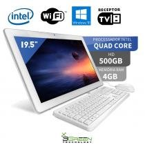 Computador All in One com TV 19.5 Intel Quad Core 4GB 500GB Wifi Windows 10 Webcam 3green - 3green technology