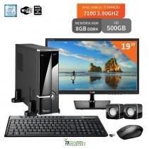 "Computador Com Monitor 19"" LG Intel Core I3 7100 8Gb Ddr4 Hd 500Gb Wifi 3Green Evolution Fun 3Green Technology"