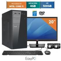 Computador com Monitor LED 19.5 LG EasyPC Intel Core i3 4GB HD 500GB DVD -