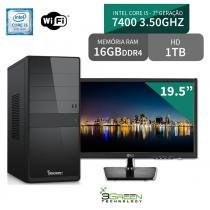 Computador com Monitor LG 19.5, Intel Core i5 7400 7 Geração 16GB DDR4, HD 1TB, Wifi, 3green Select - 3green technology