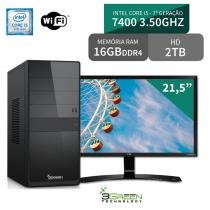Computador com Monitor LG 21.5 FullHD, Intel Core i5 7400, 16GB DDR4, HD 2TB, Wifi, 3green Select - 3green technology