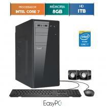 Computador Desktop EasyPC Intel Core i7 8GB HD 1TB -