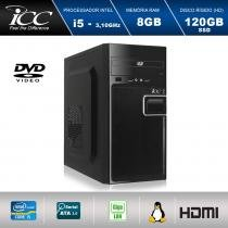 Computador Desktop ICC Vision IV2586D Intel Core I5 3,2GHZ 8GB HD 120GB SSD DVDRW HDMI FULL HD -