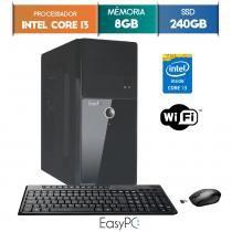 Computador EasyPC Intel Core i3 8GB SSD 240GB Wifi mouse e teclado sem fio -