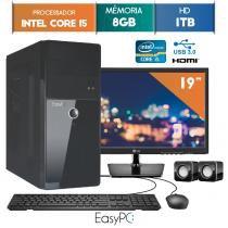 """Computador EasyPC Intel Core I5 8GB 1TB Monitor 19"""" LG 20M37A -"""