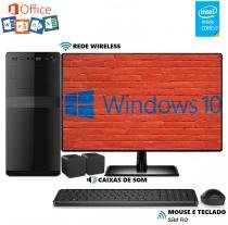 Computador EasyPC MicrosoftPack Intel Core i3 8GB HD 2TB Monitor 19.5 LED Wifi Windows 10 e Office -