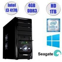 Computador Falcon Core i3-4170 4 Geração, 4GB DDR3, HD 1TB, DVD, Windows 7, Teclado e Mouse - Intel