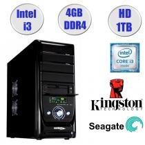 Computador Falcon Core i3-7100 7 Geração, 4GB DDR4, HD 1TB, DVD, Teclado e Mouse - Intel