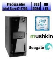 Computador Falcon Core i7-6700 6 Geração, 8GB DDR4, HD 1TB, DVD, Teclado e Mouse - Intel