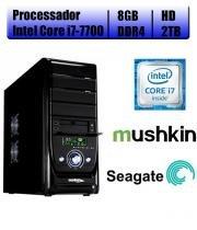 Computador Falcon Core i7-7700 7 Geração, 8GB DDR4, HD 2TB, DVD, Teclado e Mouse - Intel