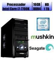 Computador Falcon Core i7-7700K 7 Geração, 16GB DDR4, HD 1TB, DVD, Teclado e Mouse - Intel