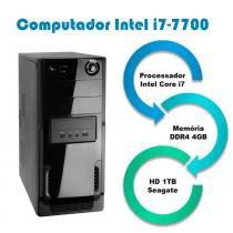 Computador Falcon Intel Core i7-7700 7 Geração, 4GB DDR4, HD 1TB, DVD, Teclado e Mouse -