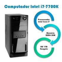 Computador Falcon Intel Core i7 7700K 7 Geração, 8GBB DDR4, HD 1TB, DVD, Teclado e Mouse -