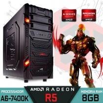 Computador Gamer GT AMD A6 7400K, 8GB Ram, Radeon R5, 1TB - Alfatec