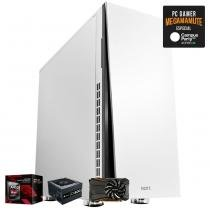 Computador Gamer MegaMamute GeForce GTX 1050 Ti 4GB, AMD A10, 4GB DDR3, 500GB HD, 600W, NZXT H230 - Megamamute