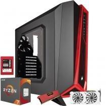 Computador Gamer MegaMamute GeForce GTX 1080 EX OC SNPR White AMD Ryzen 7 16GB DDR4 480GB SSD 3TB HD - Megamamute