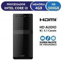 Computador Intel Core i3 3.3ghz, 4GB DDR3, 500GB, HDMI FullHD, áudio 5.1, EasyPC Standard -