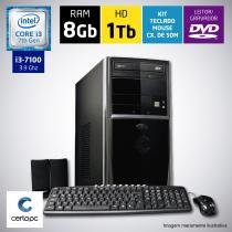 Computador Intel Core i3 7ª Geração 8GB HD 1TB DVD Certo PC SMART 030 -