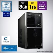 Computador Intel Core i3 7ª Geração 8GB HD 1TB DVD com Windows 10 Certo PC SMART 032 -