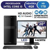 Computador Intel Core i5 3.4ghz, 4GB DDR3, 1TB, HDMI, áudio 5.1, Monitor LED 19.5 EasyPC Standard -