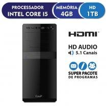 Computador Intel Core i5 3.4ghz, 4GB DDR3, 1TB, HDMI FullHD, áudio 5.1, EasyPC Standard -