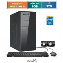 Computador Intel Core i5 3.4ghz, 8GB DDR3, 2TB, HDMI FullHD, áudio 5.1, EasyPC Standard -