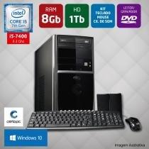 Computador Intel Core i5 7ª Geração 8GB HD 1TB DVD Windows 10 PRO Certo PC SELECT 047 -