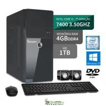 Computador intel core i5 7400 4gb hd 1tb hdmi dvd windows 10 64bits 3green triumph business desktop - 3green technology