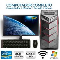 Computador Intel Core i5, 8GB RAM, 500 HD, W7 c/ Wifi, Monitor 18.5, Teclado e Mouse - Alfatec
