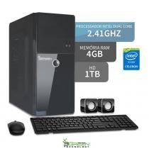 Computador intel dual core 2.41ghz 4gb ddr3 hd 1tb 3green triumph business desktop - Bel micro