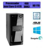 Computador Intel i3 4170 - LGA-1150, Asus H81-CS/BR 4GB DDR3, HD 1TB c/ Windows 7 Pro - Intel