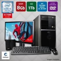Computador + Monitor 19,5 Intel Core i5 7ª Geração 8GB HD 1TB DVD Certo PC SELECT 039 -