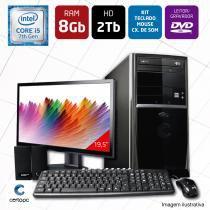 Computador + Monitor 19,5 Intel Core i5 8GB HD 2TB DVD Certo PC SELECT 007 -