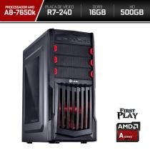 Computador Neologic Gamer First Play Amd A8 7650k  16GB 500GB  R7 240  -  NLI66435 -